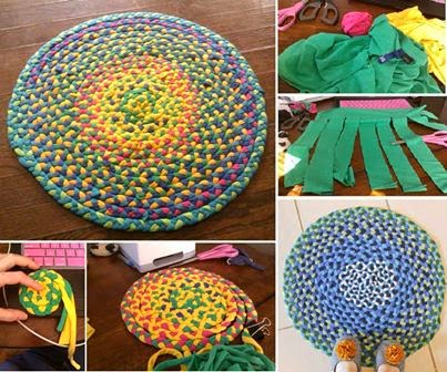 Braided Rug From Old T-Shirt's
