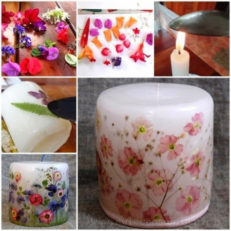 How To Decoupage A Candle With Flowers!