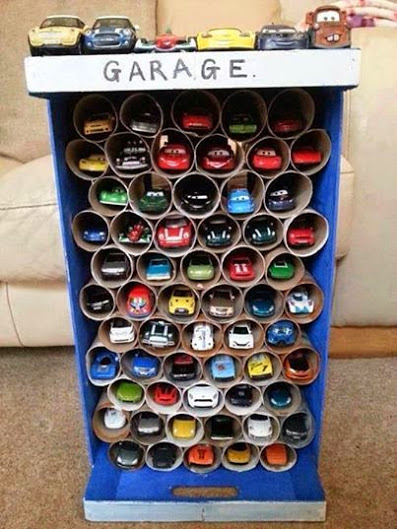 Such a great way to organize your kid's hotwheels!
