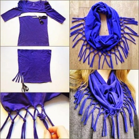 No-Sew T-Shirt Necklace  Scarf.