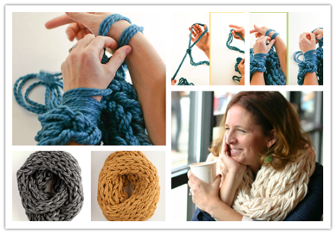 DIY Knitted Scarf.
