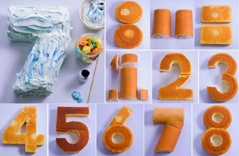 DIY Number Cake.