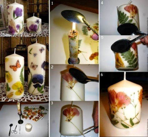 Easy To Make Decorated Candles.