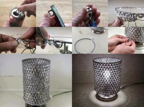 How to add a pop tab shade to your lamp!