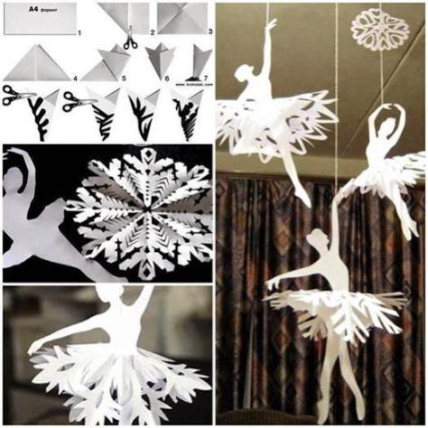 Paper Snowflake Ballerinas.