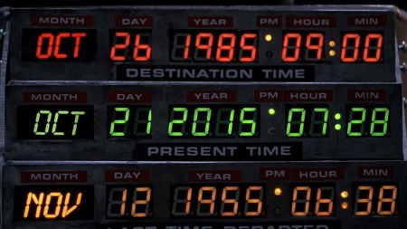 Bitte haltet heute Ausschau nach einem DeLorean DMC-12.